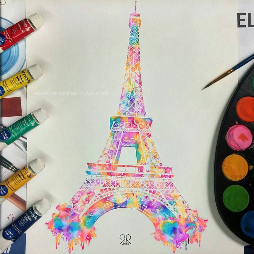eiffel tower painting 1
