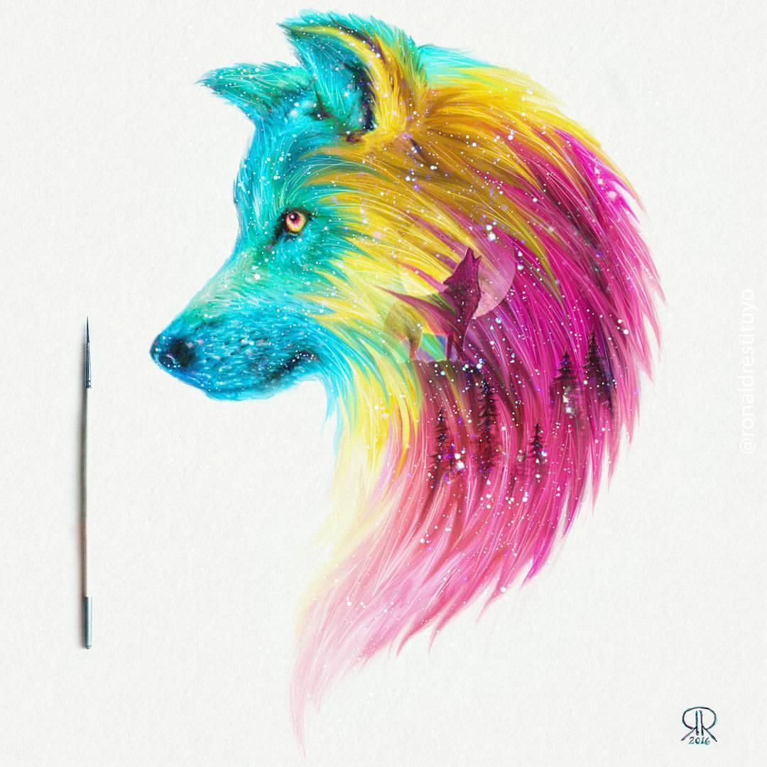 Fantasy Wolf   Ronald Restituyo Art