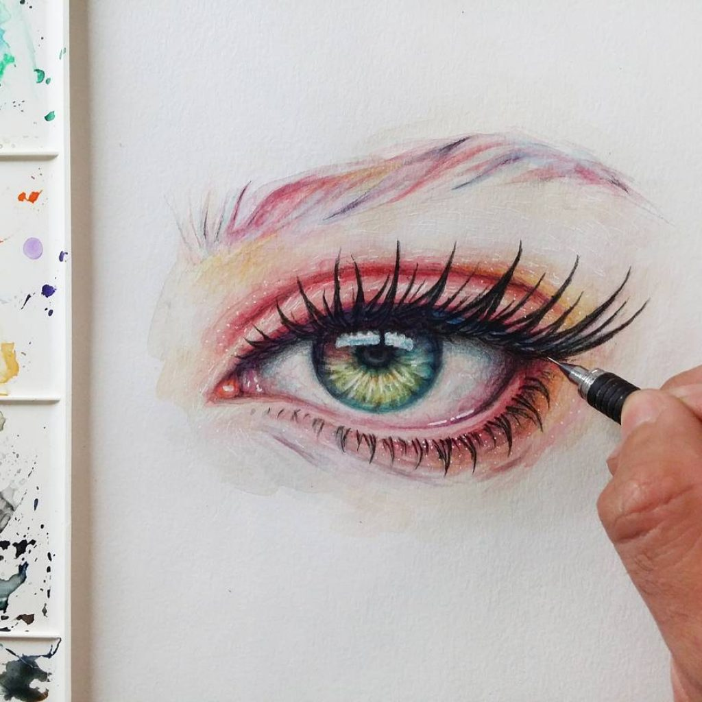 3 hours Eye painting  Process image on my Storyhellip