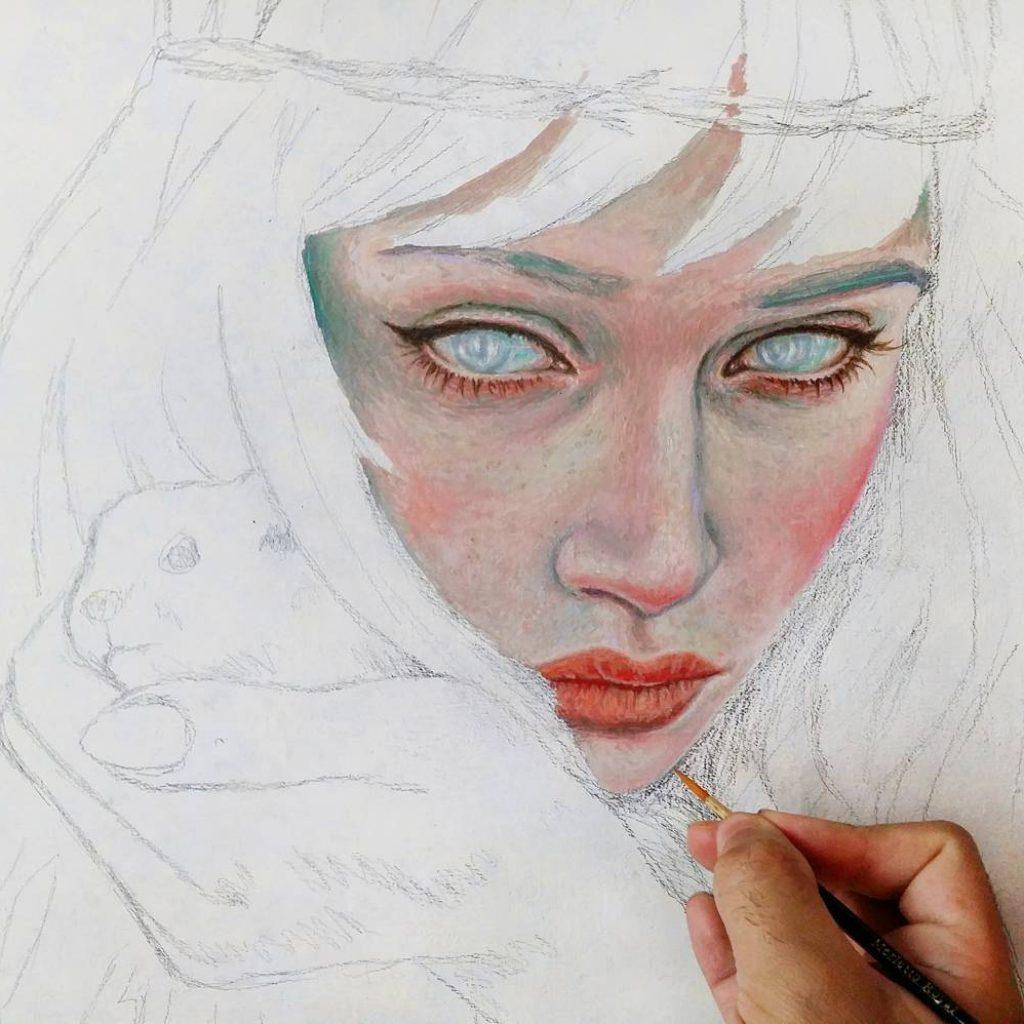 Starting a new one ronaldrestituyo oil art
