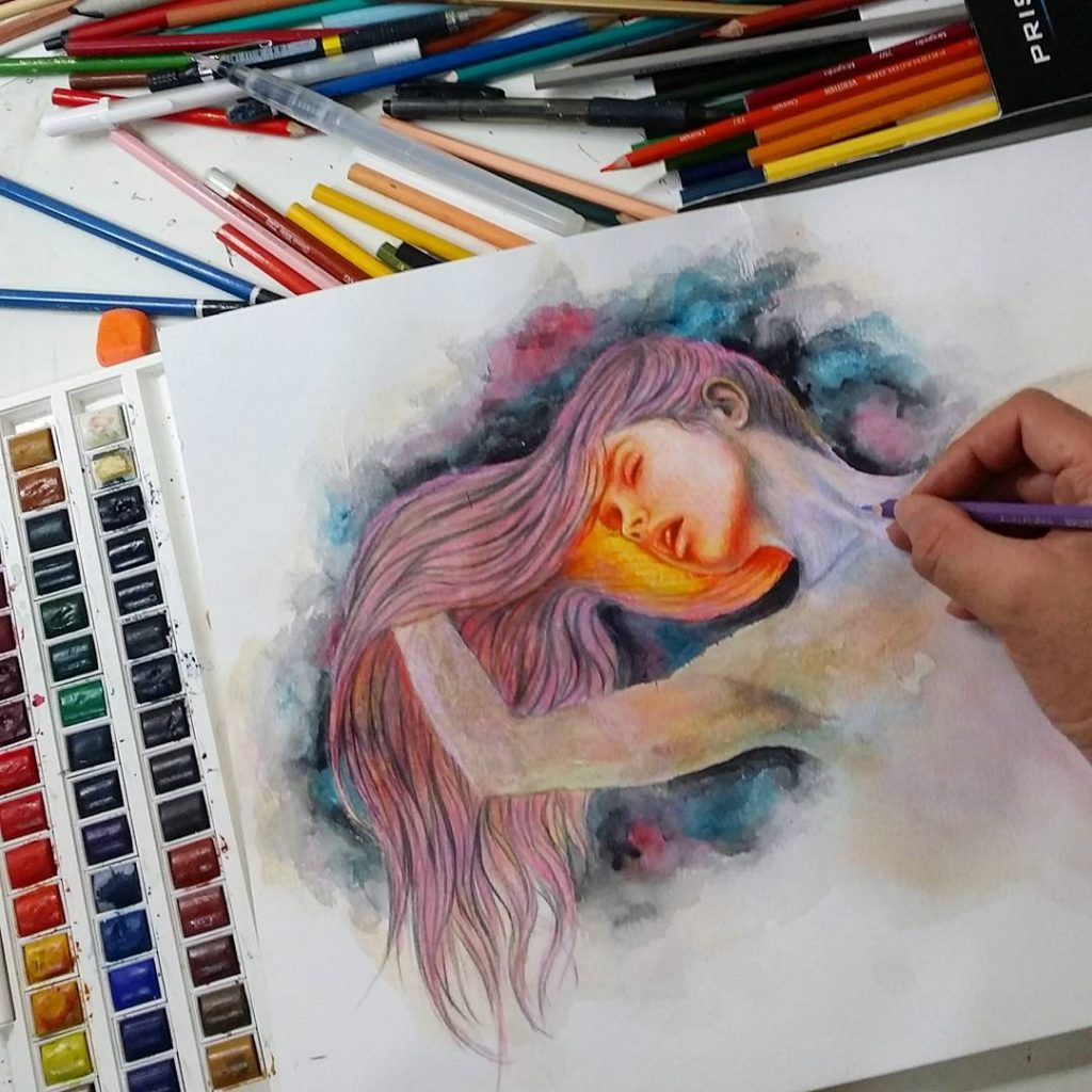 Another watercolor and colored pencils one ronaldrestituyo art