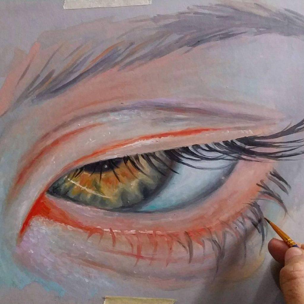 New oil eye study in process  ronaldrestituyo art wip