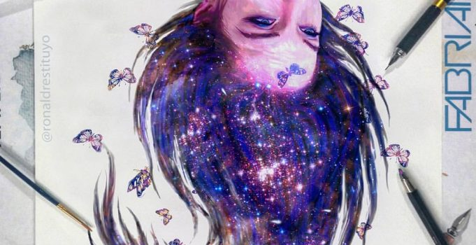 Galaxy Girl Painting